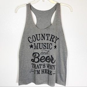 """Tops - """"Country Music"""" Festival Style Tank Top"""